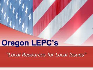 Oregon LEPC s