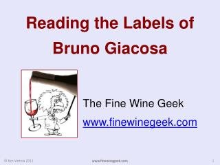 Reading the Labels of  Bruno Giacosa