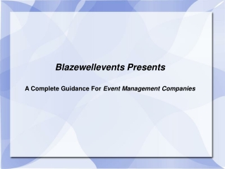 Blazewell Event management Company