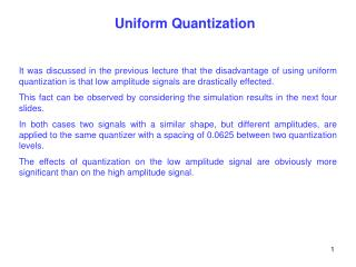 uniform quantization
