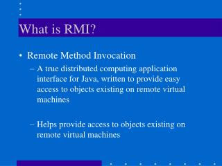 What is RMI