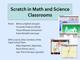 Scratch in Math and Science Classrooms