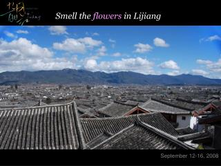 Smell the flowers in Lijiang