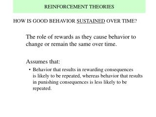 reinforcement theories