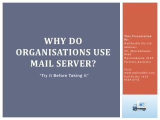 Why Do Organisations Use Mail Server?