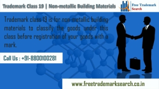 Trademark Class 19 | Non-metallic Building Materials