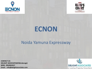 Ecnon Kings Court Noida 0%Brokerage Available 1/2/3/4 BHK Ca