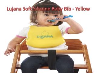 Lujana Soft Silicone Baby Bib - Yellow