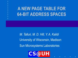a new page table for  64-bit address spaces