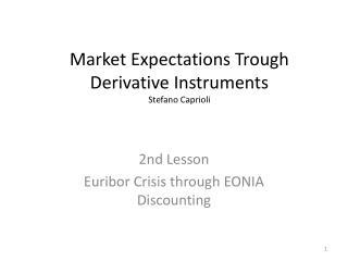 Market Expectations Trough Derivative Instruments Stefano Caprioli