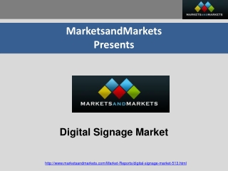 Digital Signage Market worth $13.2 Billion by 2016