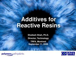 additives for reactive resins
