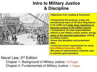 Intro to Military Justice  Discipline