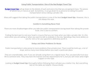 budget travel deals