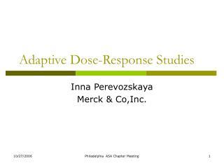 adaptive dose-response studies