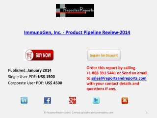 ImmunoGen, Inc. - Market Overview 2014