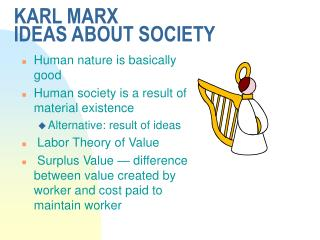 KARL MARX IDEAS ABOUT SOCIETY