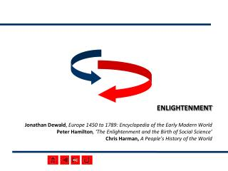 ENLIGHTENMENT  Jonathan Dewald, Europe 1450 to 1789: Encyclopedia of the Early Modern World Peter Hamilton,  The Enlight