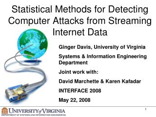 Statistical Methods for Detecting Computer Attacks from Streaming Internet Data