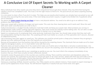 A Clear-cut List Of Expert Secrets To Working