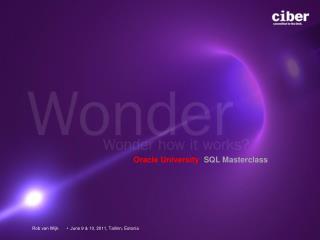 Oracle University  SQL Masterclass
