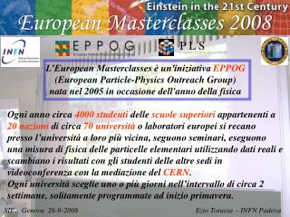 European Masterclasses 2008