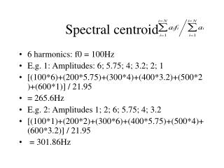 Spectral centroid