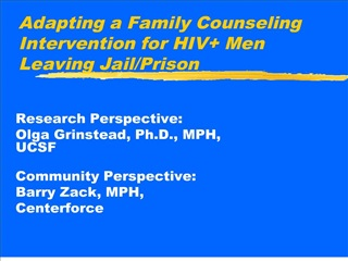 adapting a family counseling intervention for hiv men leaving jail