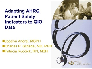 adapting ahrq patient safety indicators to qio data