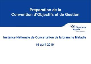 Pr paration de la  Convention d Objectifs et de Gestion