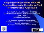 adapting the ryan white hivaids program diagnostic compliance ...