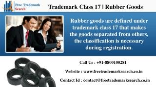 Trademark Class 17 | Rubber Goods