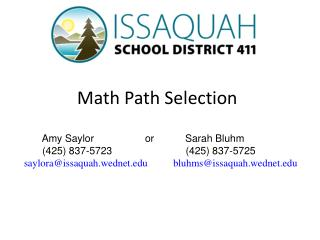 Math Path Selection