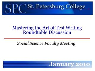 Social Science Faculty Meeting