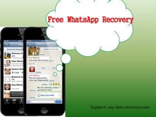 iPhone WhatsApp Recovery for Free