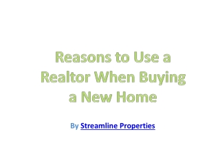 Reasons to Use a Realtor When Buying New