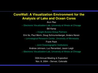 CoreWall: A Visualization Environment for the Analysis of Lake and Ocean Cores