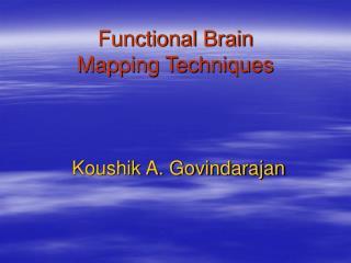 Koushik A. Govindarajan