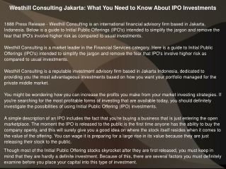Westhill Consulting Jakarta: What You Need to Know