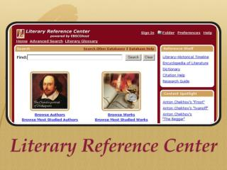 Comparison of Literary Resources