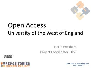 Open Access University of the West of England