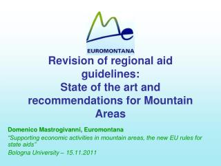 Revision of regional aid guidelines: State of the art and recommendations for Mountain Areas
