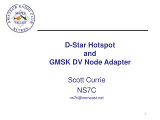 d-star hotspot  and gmsk dv node adapter