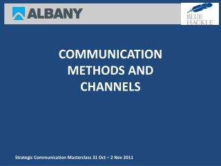 Strategic Communication Masterclass 31 Oct   2 Nov 2011