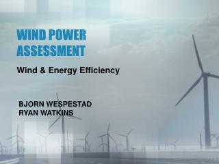 WIND POWER ASSESSMENT