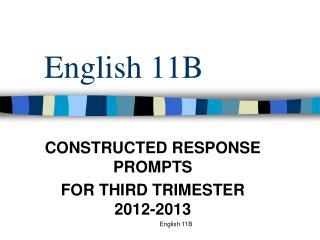 English 11B