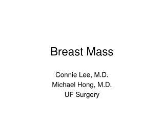 Breast Mass