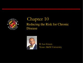 Reducing the Risk for Chronic Disease