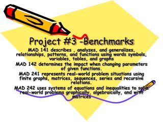 Project 3 -Benchmarks