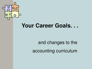 Your Career Goals. . .